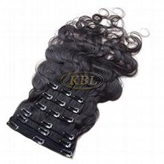 Brazilian Body Wave Clip in Hair Extensions180G 100%  Raw Brazilian Human Hair