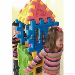 Preschool Nursery Child toy big size plastic construction building blocks