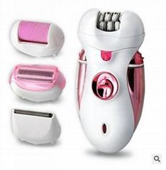博騰外貿款四合一充電式磨腳器女士剃毛器電動女用脫毛器刮毛刀