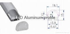 Transparent led curtain display aluminum profile housing