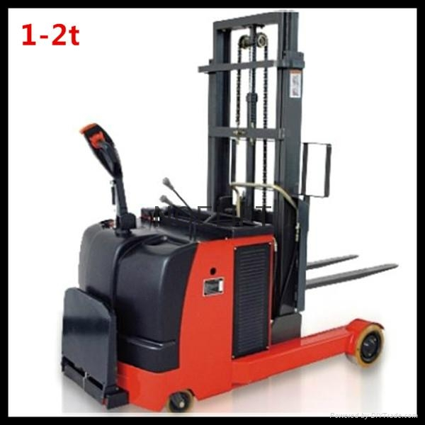 electric reach truck pallet stacker 1