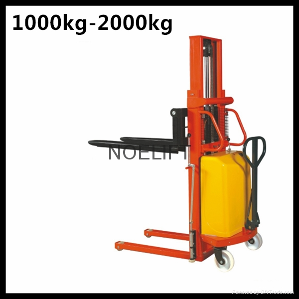 semi electric pallet stacker 1