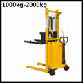 semi electric pallet stacker 2