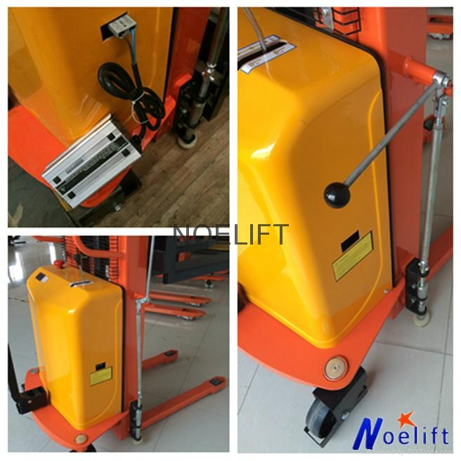 semi electric pallet stacker 4