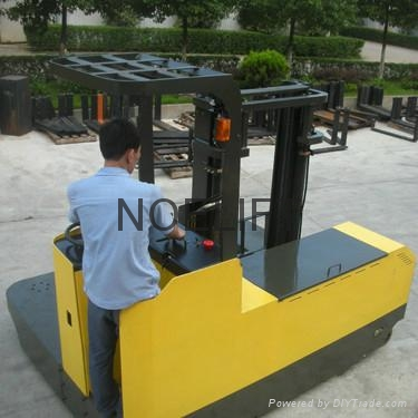 side loader electric reach stacker 1
