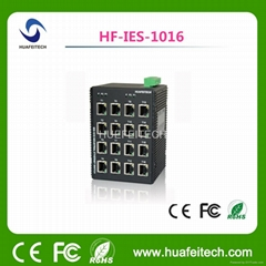16 RJ45 Port Unmanaged Fast Ethernet Switch with RoHS