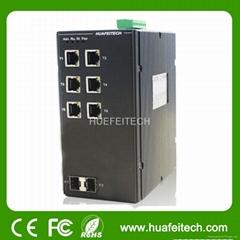 Managed DIN-Rail 8-Port Ethernet Switch