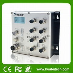 8 M12 Port Fast Port Ethernet Switch with FCC Certification