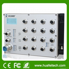 16 Port Managed M12 Interface Industrial Ethernet Switch