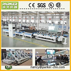automatic many shapes glass cutting machine insulating glass making line
