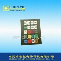 membrane panel dgital keys touch switch