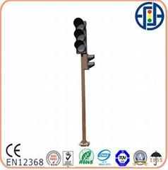 Cylindrical Traffic Light Pole