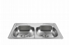Double bowl wholesale stainless steel sink without faucet WY-3322
