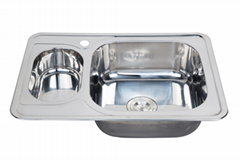 Special design two different  bowl size double kitchen sink WY-7050