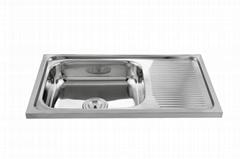 Factory supply topmount 201/304 stainless steel kitchen sink WY-7544