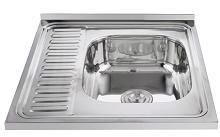 Modern standard wholesale single bowl stainless steel sink 6060
