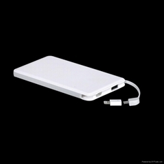 portable slim travel charge for iphone mobile phone polymer Power Bank 5000mAh