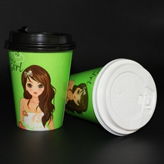 Beverage Use and Paper Material A fast food restaurant paper cups
