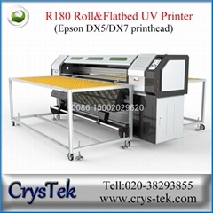 CrysTek CT-R180 Xenons roll and flatbed hybird uv printer