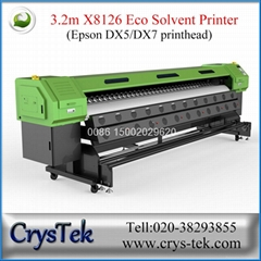 CrysTek CT-X8126 xenons large format printer with Epson dx5/dx7 printhead