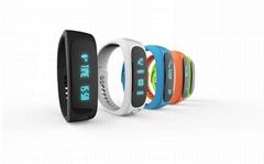 E02 Smart Bracelet Bluetooth Touch Screen Fitness Tracker Sleep Monitor Health
