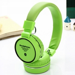 Fashion Bluetooth headphone Wireless Headset Stereo Deep Bass Headphones