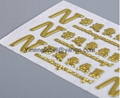 Metal 3D Soft Adhesive Sticker  Soft Car Label  Chrome Label