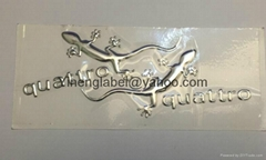 Metal 3D Soft Adhesive Sticker  Soft Car Label  Chrome Label