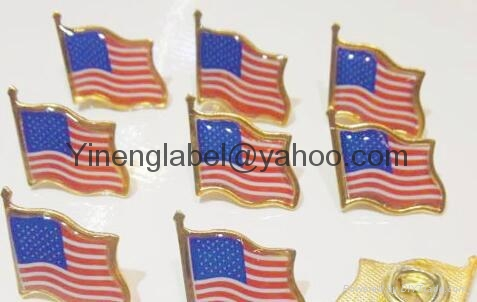 Custom Metal Enamal expoy Flag lapel Pin  Breastpin 7