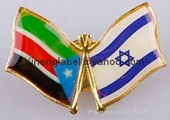 metal lapel pin badge  enamelled brooch