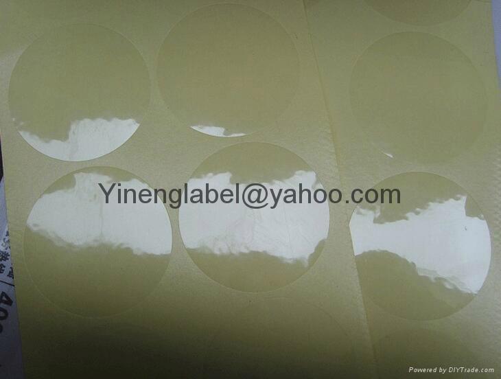 Transparent label PVC Label  Plastic round shape sticker  Packing Bottle label   3