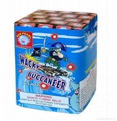 CONSUMER FIREWORKS --CAKE/BATTERY --Wacky Buccaneer 16 Sho