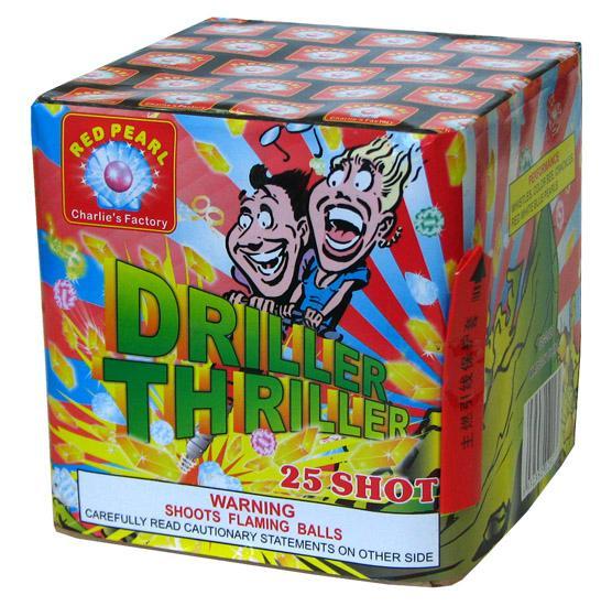 CONSUMER FIREWORKS --CAKE/BATTERY --Driller Thriller 25 Shot 1