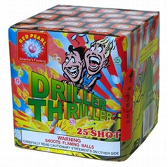 CONSUMER FIREWORKS --CAKE/BATTERY --Driller Thriller 25 Shot