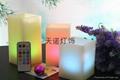 方形电子石蜡蜡烛灯七彩遥控