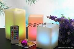 方形電子石蠟蠟燭燈七彩遙控