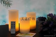 LED平口圓柱電子蠟燭燈