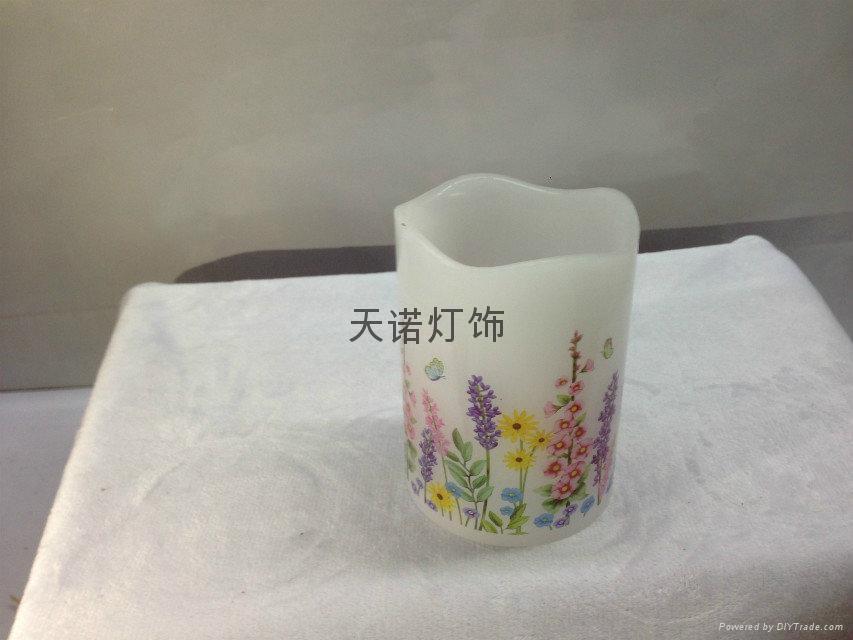 花样水贴纸蜡烛灯 1