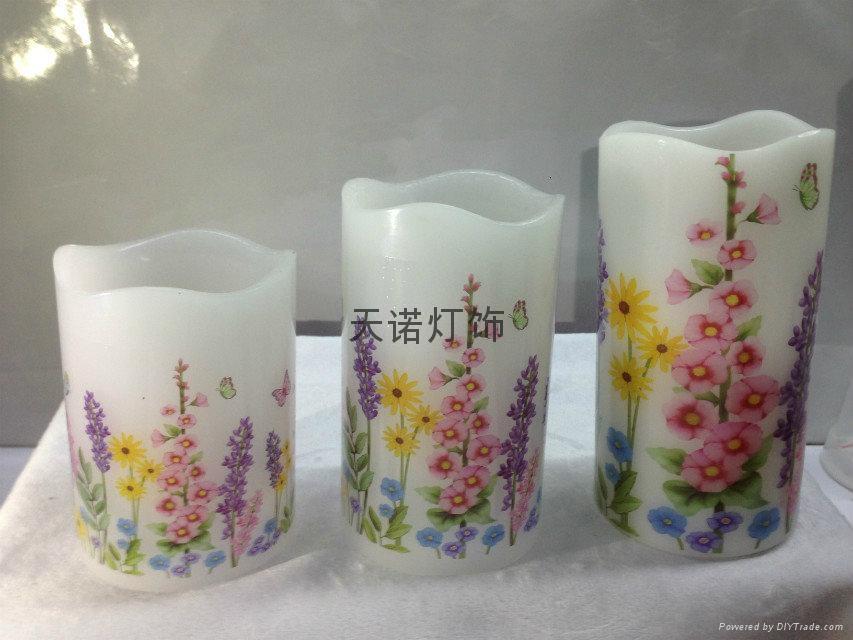 花样水贴纸蜡烛灯 4