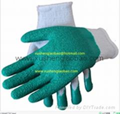 knit latex foam safety gloves
