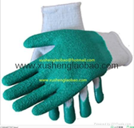 knit latex foam safety gloves 2