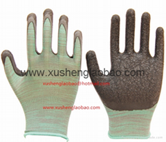 latex coated nyloyn safety glove
