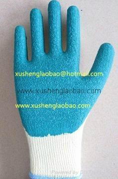 21cotton yarn wrikle safety gloves 1
