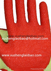 21cotton yarn wrikle safety gloves