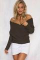 OEM fashion lady sweater blouse sexy knitwear 3