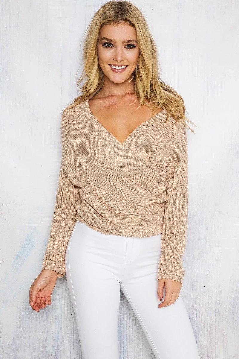 OEM fashion lady sweater blouse sexy knitwear 4