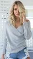 OEM fashion lady sweater blouse sexy knitwear 5