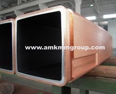 Parabolic copper mould tube