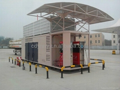 2016 new design mobile fuel gas station for CNG filling