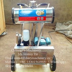vacuum pump milking machine with single bucket for cow/goat
